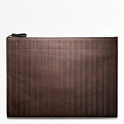 BLEECKER EMBOSSED LEATHER ZIP PORTFOLIO COACH F61080