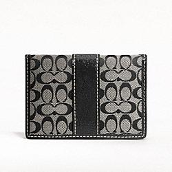 SIGNATURE CARD CASE - SILVER/BLACK/WHITE/BLACK - COACH F61124