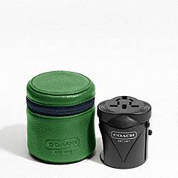 COACH TRAVEL ADAPTOR - GREEN/BLUE - F61186