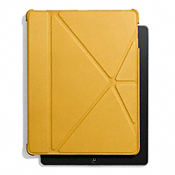 COACH BLEECKER LEATHER ORIGAMI IPAD 5 CASE - NEW MUSTARD - F61193