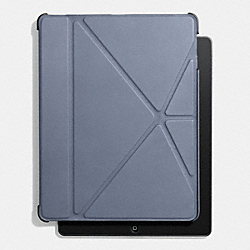 COACH BLEECKER LEATHER ORIGAMI IPAD 5 CASE - FROST BLUE - F61193