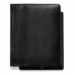 COACH BLEECKER LEATHER TABLET CASE - BLACK - F61223