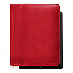 COACH BLEECKER LEATHER TABLET CASE - CHILI - F61223