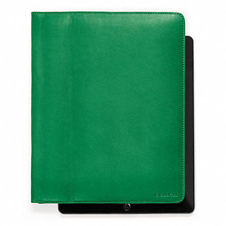 COACH BLEECKER LEATHER TABLET CASE -  - f61223