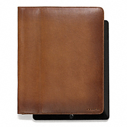 COACH BLEECKER LEATHER TABLET CASE - FAWN - F61223