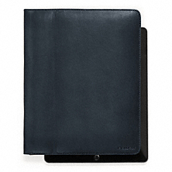 COACH BLEECKER LEATHER TABLET CASE - ONE COLOR - F61223