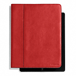COACH BLEECKER LEATHER TABLET CASE - TOMATO - F61223