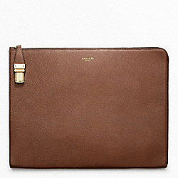 COACH CROSBY LEATHER PORTFOLIO - ONE COLOR - F61230