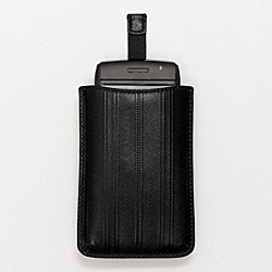 COACH BLEECKER EMBOSSED TICKING STRIPE PHONE CASE - ONE COLOR - F61320