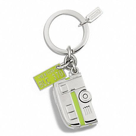 COACH CAMPING TRAILER KEY RING - NICKEL - f61431