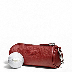 COACH LEATHER GOLF BALL SET - RED - F61440