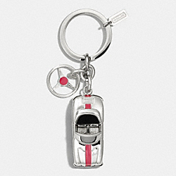 SPORTS CAR KEY RING - NICKEL - COACH F61500