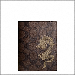 COACH DRAGON SIGNATURE PASSPORT CASE - ONE COLOR - F61530