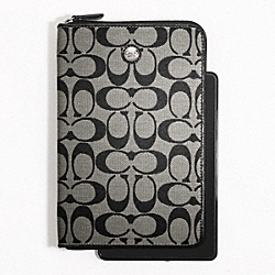 COACH SIGNATURE E-READER - SILVER/BLACK/WHITE/BLACK - F61575