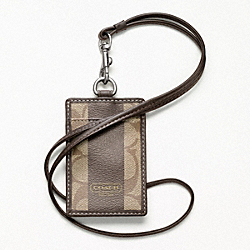 COACH COACH HERITAGE STRIPE LANYARD - ONE COLOR - F61602
