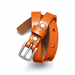 COACH LEATHER BRACELET - ONE COLOR - F61747