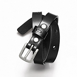 LEATHER BRACELET - BLACK - COACH F61747