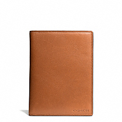 COACH BLEECKER PASSPORT CASE - SAFFRON - F61754