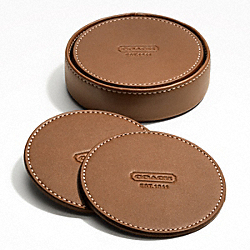 LEXINGTON LEATHER COASTER SET