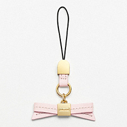 COACH LEATHER BOW LANYARD - ONE COLOR - F61916