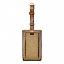 BLEECKER SMALL LUGGAGE TAG - f61921 - SAND/FAWN