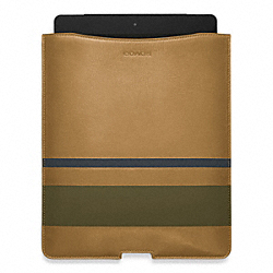 BLEECKER DEBOSSED PAINTED STRIPE IPAD SLEEVE COACH F61923