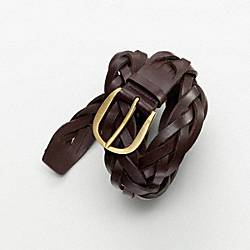 COACH HORSESHOE BRAIDED BELT - ONE COLOR - F61944