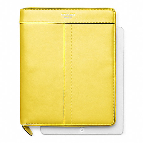 COACH LEATHER ZIP AROUND IPAD CASE -  - f61953