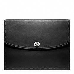 COACH LEATHER UNIVERSAL CLUTCH - SILVER/BLACK - F61987