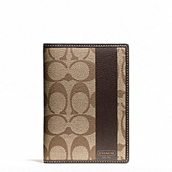 COACH COACH HERITAGE STRIPE PASSPORT CASE - ONE COLOR - F62085