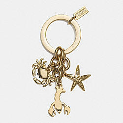 COACH SUMMER MIX KEY RING - GOLD - F62153