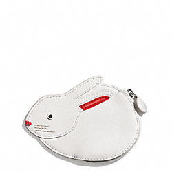 COACH BUNNY MOTIF COIN PURSE - SILVER/MULTICOLOR - F62270