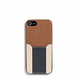 HERITAGE SPORT IPHONE CASE - SADDLE/NAVY - COACH F62357