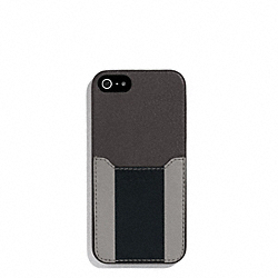 HERITAGE SPORT IPHONE CASE - SLATE/BLACK - COACH F62357