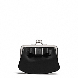 COACH DARCY BOW FRAMED COIN PURSE - SILVER/BLACK - F62372
