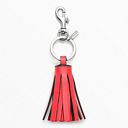 COACH SINGLE  TASSEL KEY RING - ONE COLOR - F62376