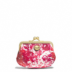 COACH PEYTON FLORAL PRINT FRAMED COIN PURSE - ONE COLOR - F62397