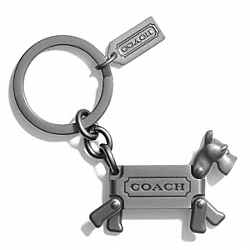 TERRIER KEY RING COACH F62436