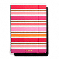 PEYTON MULTI STRIPE TRIFOLD IPAD AIR CASE - PINK MULTICOLOR - COACH F62466