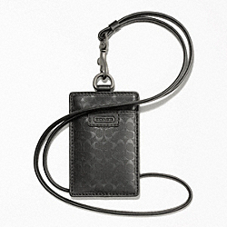 COACH HERITAGE SIGNATURE EMBOSSED PVC LANYARD - ONE COLOR - F62481