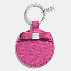 BOW MIRROR KEY RING - SILVER/MAGENTA - COACH F62504