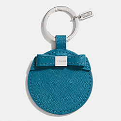 BOW MIRROR KEY RING - SILVER/TEAL - COACH F62504