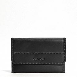 COACH LEXINGTON LEATHER BUSINESS CARD CASE - SILVER/BLACK - F62556
