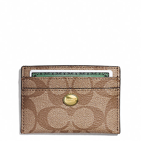 COACH PEYTON SIGNATURE CARD CASE - B4/PERSIMMON - f62633