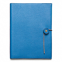 BLEECKER PEBBLED LEATHER A5 NOTEBOOK COACH F62644