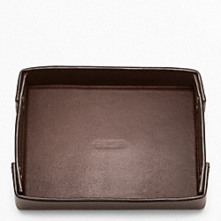 COACH BLEECKER LEATHER SMALL VALET TRAY - ONE COLOR - F62645