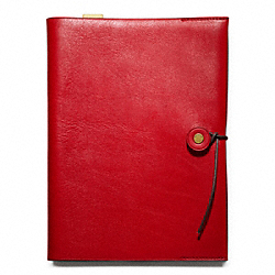 COACH BLEECKER LEATHER A5 NOTEBOOK - ONE COLOR - F62656
