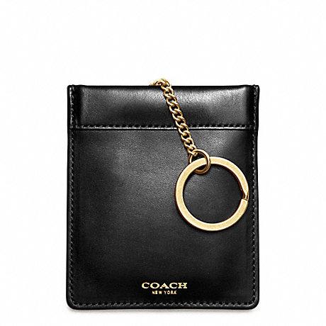 COACH CROSBY DRESS LEATHER KEYCASE -  - f62671