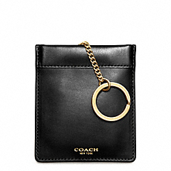 COACH CROSBY DRESS LEATHER KEYCASE - ONE COLOR - F62671