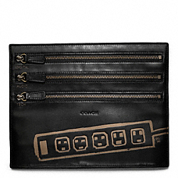 COACH HUGO GUINESS ELECTRONIC ZIP CORD POUCH - ONE COLOR - F62704